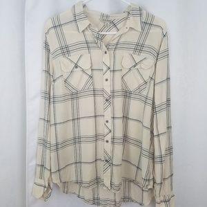 Lucky Brand Button Down Shirt Size XL